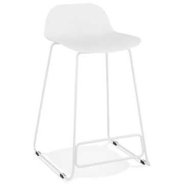 Stable, comfortable and design WHITE bar stool SLADE MINI