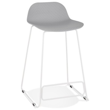 GREY bar stool with WHITE base, stable, comfortable and design SLADE MINI