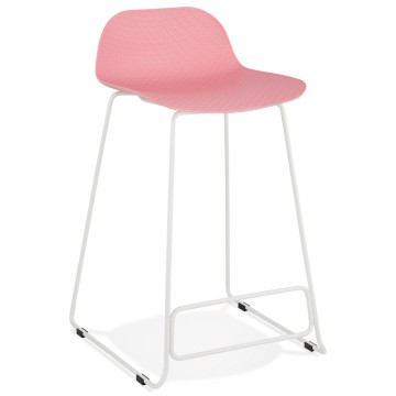 PINK bar stool with WHITE base, stable, comfortable and design SLADE MINI