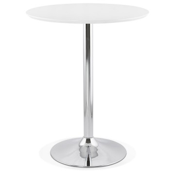 WHITE high bar table with round top ATAA