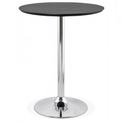BLACK high bar table with round top ATAA