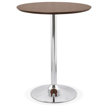 WALLNUT high bar table with round top ATAA