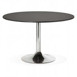 Design BLACK round table 120x120 with chromed base RADON