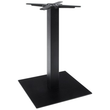 Square base table leg in black painted metal LEGAND