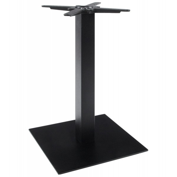 pied de table m tal base carr legand noir vistadeco. Black Bedroom Furniture Sets. Home Design Ideas