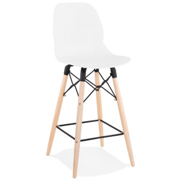 Tabouret de bar BLANC au design scandinave MARCEL MINI