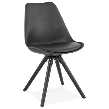 Soft and comfortable BLACK design chair SWEDEN