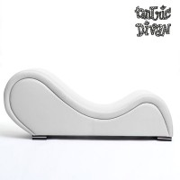 White TANTRA CHAIR in imitation leather