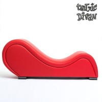 Red TANTRA CHAIR in imitation leather