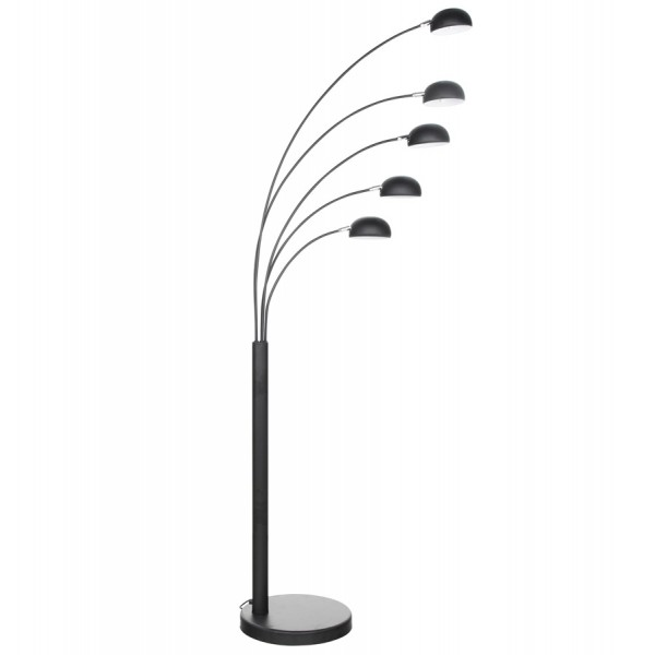 Designer standard floor lamp bush black vistadeco design floor lamp in black metal bush mozeypictures Images