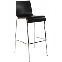 Tabouret de bar NOIR solide et empilable COBE