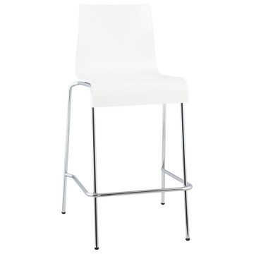 Stacking WHITE barstool small format version COBE