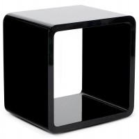 Stackable black designed cube for coffee table, shelf ... VERSO