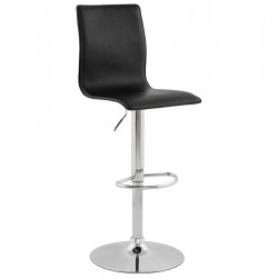Adjustable black bar stool SOHO