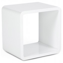 Table basse design cube VERSO (BLANC)