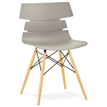 Scandinavian GREY chair with beech legs STRATA