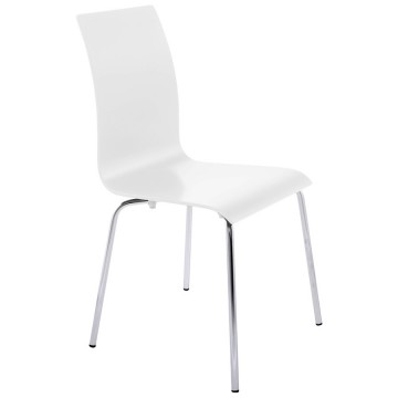 Multi-purpose WHITE chair with a sleek design CLASSIC