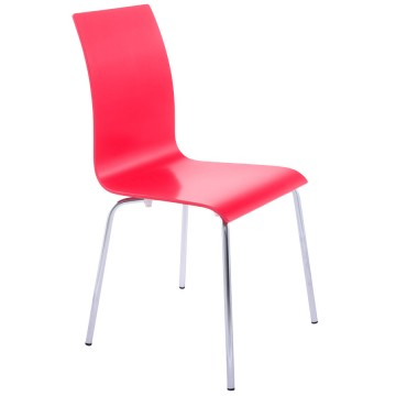 Multi-purpose chair with a sleek design CLASSIC (RED)